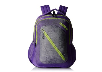 American Tourister Purple Casual Backpack low price