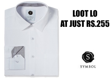 Loot : Symbol Men's Formal Premium Dobby Slim Fit Shirt