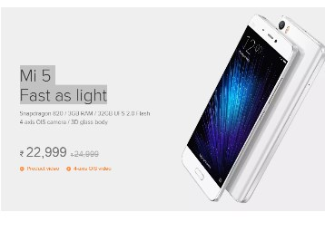 Mi 5 (3GB RAM / 32GB, 3D Glass Body)