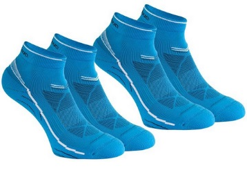 2 Pairs of Forclaz Mid 100 Hiking Socks