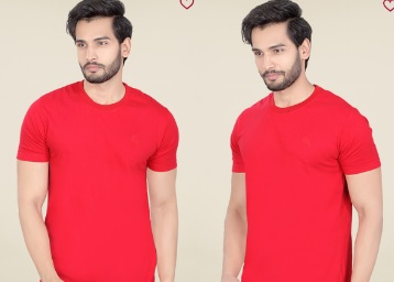 Lucfashion Red Solid T-Shirt low price