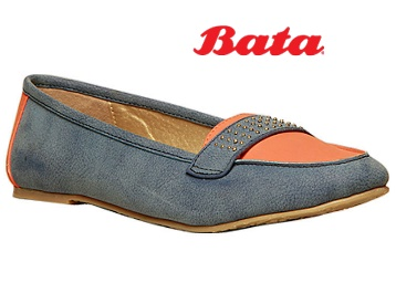 Bata Blue Ballerinas For Women low price