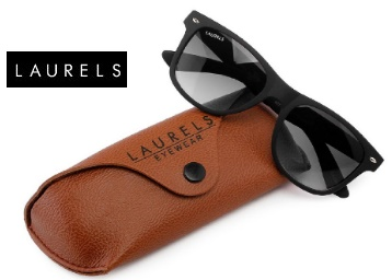 Laurels Wayfarer Sunglasses (Black frame) low price