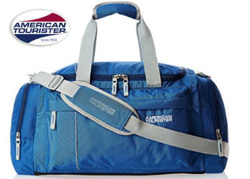 American Tourister Nylon 55 cms Blue Travel Duffle at Flat 50% Off discount deal