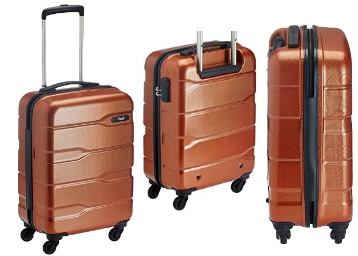 VIP Ferrari Plus Polycarbonate 55 Cms Orange Suitcase low price
