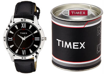 Lowest Online : Timex Analog Black Dial Men's Watch at Flat 70% Off + FREE Shipping low price