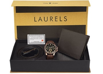 Holi Combo :- Laurels Men's Combo Pack of Watch, Wallet &Belt low price