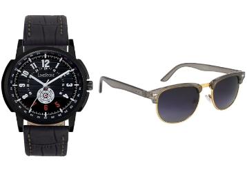 (5 Star Rating) :- LimeStone Round Wrist Watch+ Sunglass low price