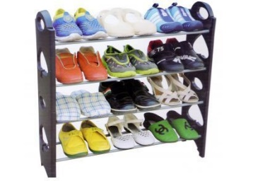 Buy 12 Pair Stackable Shoe Rack- 4 Tier at Just Rs. 229 + Free Shipping discount offer