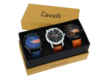 Steal Deal : Cavalli Combo of 3 Analog Watch at Just Rs. 595 + FREE Shipping discount offer