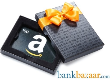 Bank Bazaar – Get Rs. 750 Amazon Voucher on Credit Card Approval discount offer