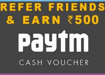 Login, Invite Your Friend ,& Get Rs. 500 PAYTM Cash Voucher discount offer