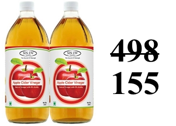 Sinew Nutrition Raw Apple Cider Vinegar 350ml (Pack of 2) at Rs. 155 discount deal