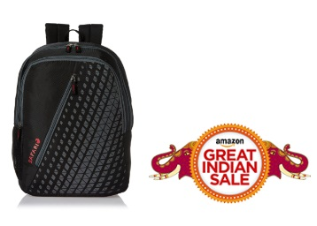 LOOT PRICE : Safari 25 Ltrs Black Casual Backpack at Flat 70% Off + FREE Shipping low price
