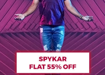 Steal Deal : Spykar Clothing at FLAT 55% Off Starting at Rs. 449 + FREE Shipping low price