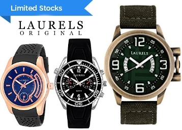 Limited Stocks : Laurels Watches at Minimum 75% OFF, starts at Rs. 199 + FREE Shipping low price