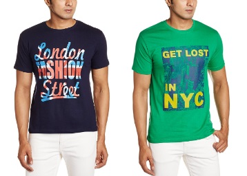 Steal Deal : Cloth Theory Men's T-Shirts Minimum 50% Off From Rs. 149 + FREE Shipping low price