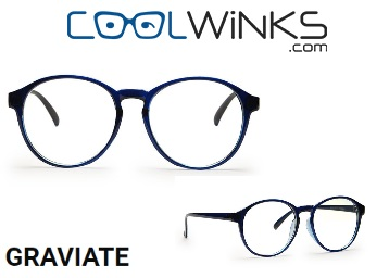 Graviate Blue Full Frame Round Eyeglasses for Men and Women at Flat 99% Off
