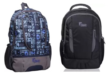 Steal Deal : F Gear Backpacks Minimum 60% Off From Rs. 249 low price