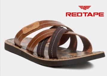 Loot : Red Tape Men Brown Leather Sandals at Flat 60% Off + Extra Rs.100 Off low price
