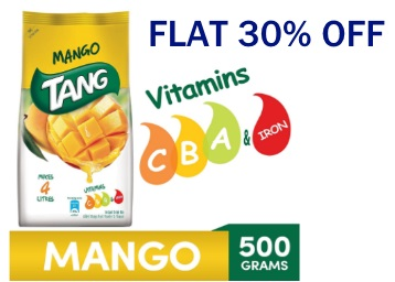 Steal Price :- Tang Mango Instant Drink Mix, 500g Pouch at Just Rs. 87 discount deal