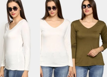 LOOT LO : Women Black & Yellow (Pack Of 2) at Rs. 210 + Extra Rs. 100 Off low price