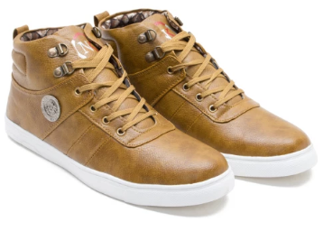 Casual brown sneakers at FLAT 53% OFF + Extra 20% OFF low price