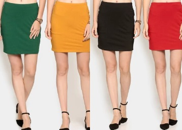 LOOT LO : Nineteen Women Pack of 2 Mini Skirts at Flat 70% Off + Extra Rs. 100 Off + FREE Shipping low price