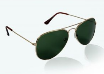 Free Shipping : Glitters Green UV Protection Sunglasses at Flat 87% Off low price
