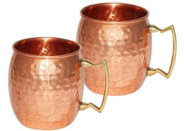 (4.5* Rrating):- Copperware Moscow Drinkware Copper Mugs Set of 2 at Flat 69% Off low price