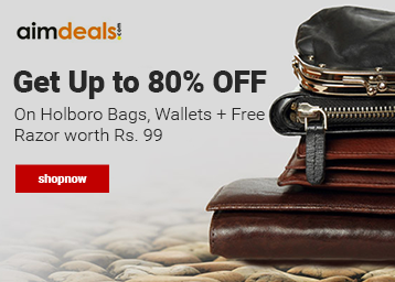 Steal : Get Up To 80% Off On Holbro Bags, Wallets + FREE Razor Worth Of Rs. 99 low price