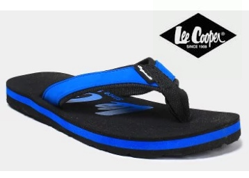 Back Again : Lee Cooper Men Navy Flip Flops at Rs.499 + Extra Rs.100 Off discount deal
