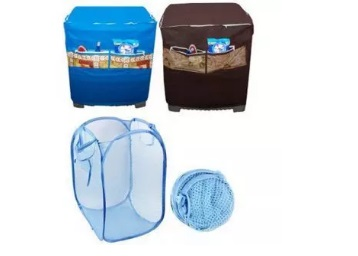 Washing Machine Cover with Foldable Laundry Bag at Just Rs. 149 + FREE Shipping low price