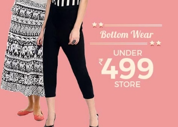 Bottom Wear Sale:- Leggings, JEANS, Skirts, and more all Under Rs. 499 low price