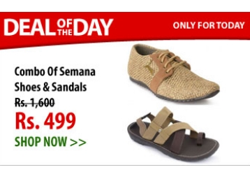 DOD:- Semana Jute Casual Shoes In Tan + Sandals at JUST Rs. 499