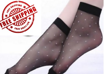 Sexy Elastic Dot Crystal Transparent socks (Pack Of 10) at Just Rs. 116 + FREE Shipping low price