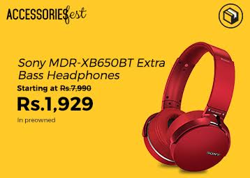 Accessories Fest : Sony MDR Extra Bass XB650 BT Starting at Just Rs. 1929 low price