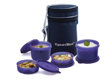 Lightning Deal ; Signoraware Executive Lunch Box with Bag at Just Rs. 432 + FREE Shipping low price