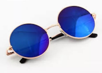 Sunglasses Blue Round Goggles For Unisex at Just Rs. 300 + FREE Shipping low price