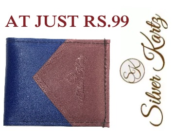 Silver Kartz Wallet At Flat Rs. 99 + Free Shipping discount deal