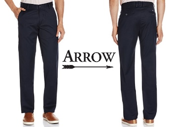 Arrow Sports Men's Slim Casual Trousers at Flat 70% Off low price