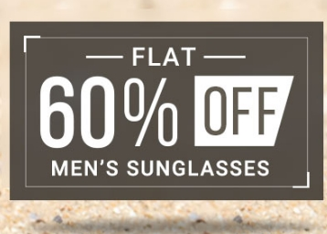 Summer Special:- Get FLAT 60% OFF on Men's SUNGLASSES + Free Shipping + COD low price