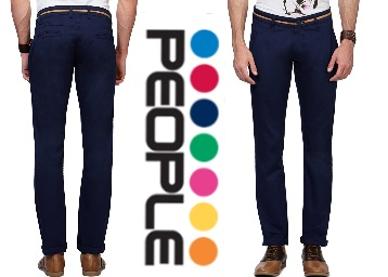 {Steal Deal} On People Men's Casual Trousers at just Rs.584 With FREE Shipping. discount deal
