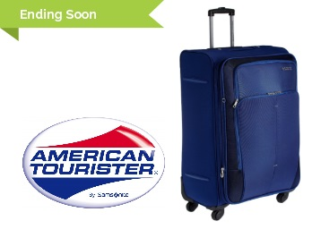 Ending Soon : American Tourister Crete Polyester 77cms Suitcase at Flat 55% Off + FREE Shipping low price
