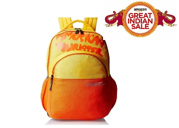 Get Flat 70% Off on American Tourister 24 Lts Casper Yellow Casual Backpack low price