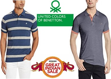 {Bumber Deal}Get United Colors of Benetton Min 50% off + Extra 105 Cashback discount offer