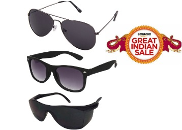 {Bumper Offer} Silver Kartz Combo of 3 Sunglasses at just Rs.316 low price