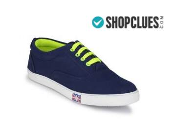 Groofer Men's Blue and Neon Green Casual shoes at Flat 80% Off discount deal