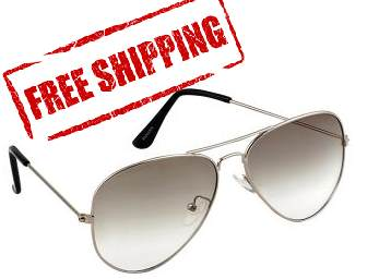 ( 4.5 Rating ) Sunglasses Aviator Metal Silver Frame at Rs. 159 + Free Shipping low price