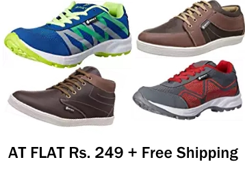 Steal Deal : Spiky Men's Shoes at FLAT Rs. 249 + Free Shipping discount deal